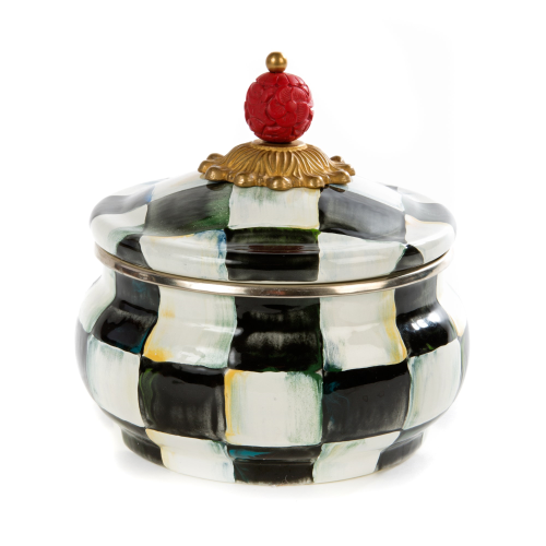 Courtly Check Squashed pot, 0.6L, Enamel