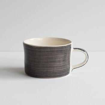 Plain Wash Set of 6 mugs, H7 x W10.5cm, graphite