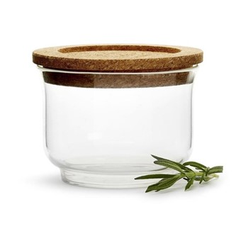 Nature Small glass jar, Dia11.5cm, cork