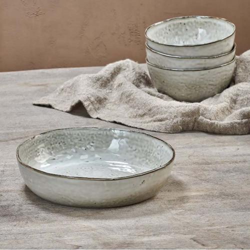Amina Serving Bowl - Small, H5cm x W23cm x D23cm, Cream