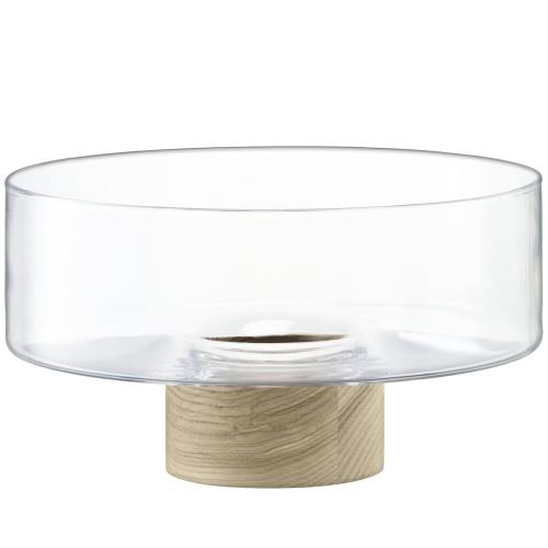 Lotta Pedestal bowl, H14 x Dia25cm, clear