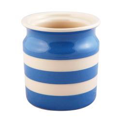 Utensil jar, 13.5 x 12.5cm, Blue