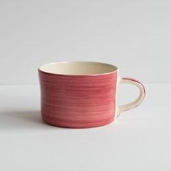 Plain Wash Set of 6 mugs, H7 x W10.5cm, raspberry