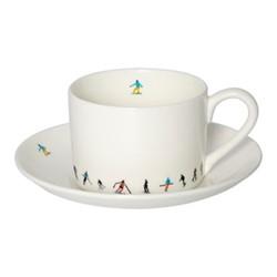Ski Chain Tea cup & saucer, muti