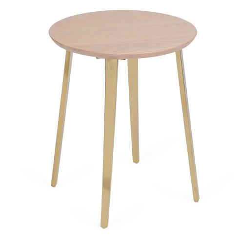 Crawford Side table, H52 x  W42 x D42cm, Light Oak