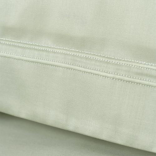Triomphe - 300 Thread Count Cotton Sateen Super king duvet cover, 260 x 220cm, Sauge