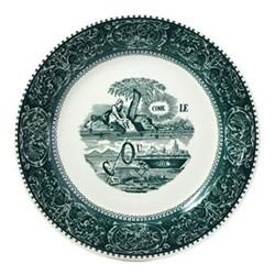Les Depareillées - Rebus Set of 6 dinner plates, 27cm, green