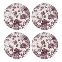 Kingsley Set of 4 plates, 20cm, white