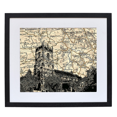 Church Framed print, L35 x W30 x D2cm