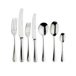 Rattail 7 piece place setting, Stainless Steel