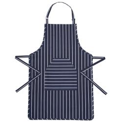 Butcher's Stripe Apron, 90 x 60cm, Blue