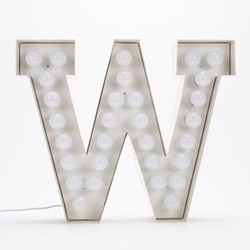 Vegaz W Letter light, H60cm
