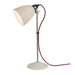 Hector Bibendum Table lamp with red cable, H57 x W24.5cm, natural white
