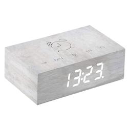 Flip Click Clock, L11.5 x W7 x H3.6cm, Birch