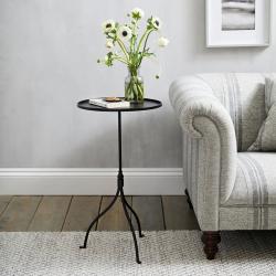 Holkham Side table, H70 x W40 x L40cm, Black