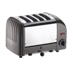 Classic Vario 4 slot toaster, metallic charcoal
