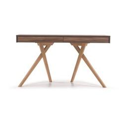 Darcey Desk, W130.1 x H72.6 x D60.1cm, walnut and oak