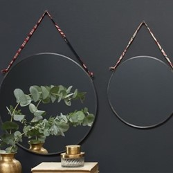 Kiko Round mirror, D0.5 x 26.5cm, antique zinc