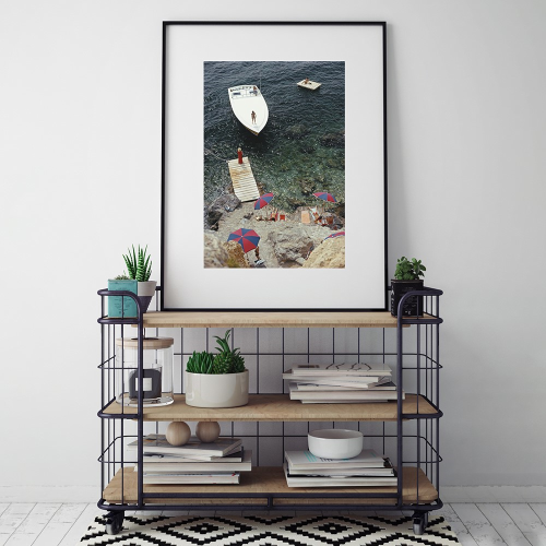 Slim Aarons - Coming Ashore Framed photograph, H71 x W56cm