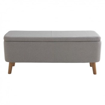 Jacobs Upholstered storage bench, W110 x H44 x D40cm, grey