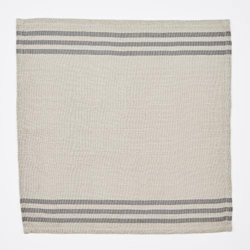 Maxime Set of 4 napkins, W50 x L50cm, Linen / Grey