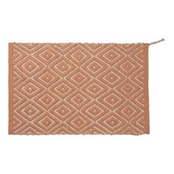 Up-Cycled Small rug, 61 x 90cm, Terracotta