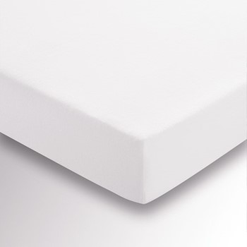 Peacock Double fitted sheet, L190 x W135 x H30cm, platinum