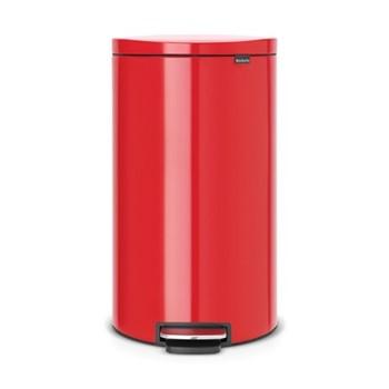 Silent Flatback pedal bin, 30 litre, passion red