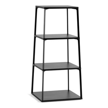 Eiffel Shelving unit, W50 x D50 x H110cm, ink black