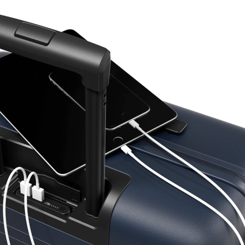 H6 Medium check-In trolley suitcase, W46 x H64 x D24cm, Night Blue