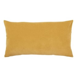 Elise Velvet Cushion cover, 40 x 65cm, yellow