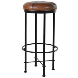 Mason Bar stool, H76 x Dia38cm, brown