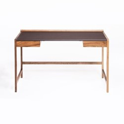 Cedric by Kay + Stemmer Desk, W125 x D55 x 75cm, walnut/brown