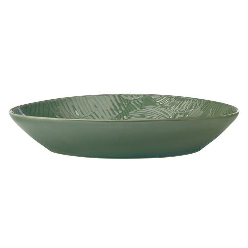 Panama Panama Stoneware Oval Serving Bowl Kiwi Gift Boxed, Green