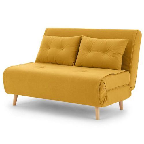 Haru Small sofa bed, H78 x W120 x D86cm, Butter Yellow