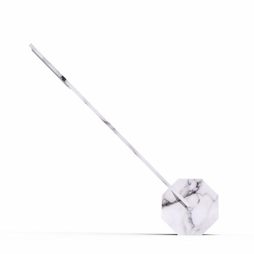 Octagon Desk light, L8.5 x W4 x H38cm, White Marble