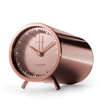 Tube by Piet Hein Eek Desk clock, L8 x D5cm, copper