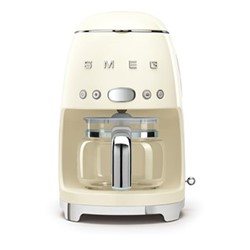 50's Retro Style Drip coffee machine, H33 x W15.5 x D33cm, cream