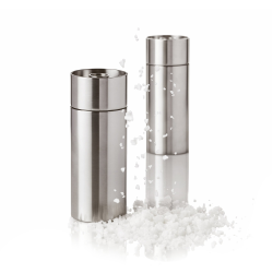 Cylinda-Line by Arne Jacobsen Salt mill, H12.5 x W5cm, Satin Stainless Steel