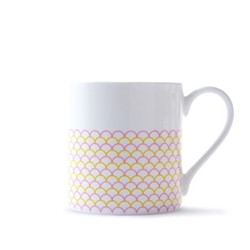 Ripple Mug, H9cm - 37.5cl, pink/yellow