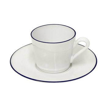 Beja Set of 6 teacups and saucers, 18cl, white