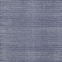 Herringbone Woven cotton rug, W122 x L183cm, indigo