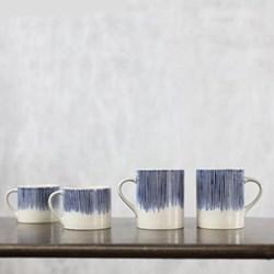 Karuma Mug, H7 x D8cm, blue and white ceramic