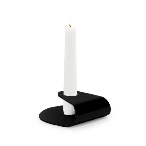 Nightlight Candlestick, Dia10 x 3.8cm, Matt Black