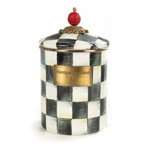 Courtly Check Medium canister, 1.4L, Enamel