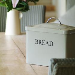 Bread bin, H29.5 x W33.5 x D18.5cm, Clay