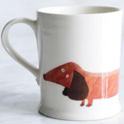 Dachshund Mug, 30cl - H9.5cm