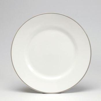 Dessert plate, 21cm, truffle/white