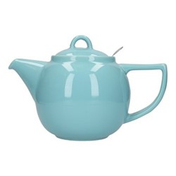 Geo 4 cup teapot, H16 x D14cm, aqua