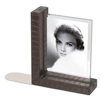 "Mia Bookend photo frame, 8.5 x 6.25"", brown"